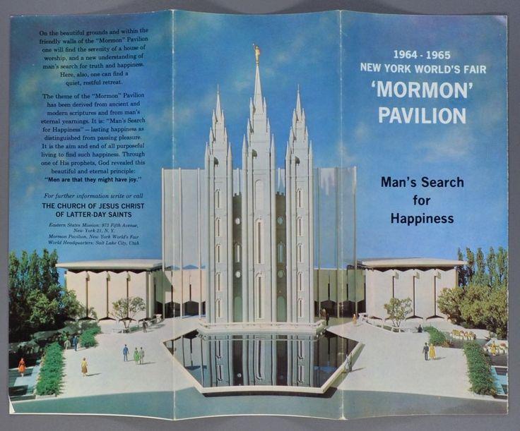 1964-1965 New York World's Fair Mormon Pavilion Color Brochure