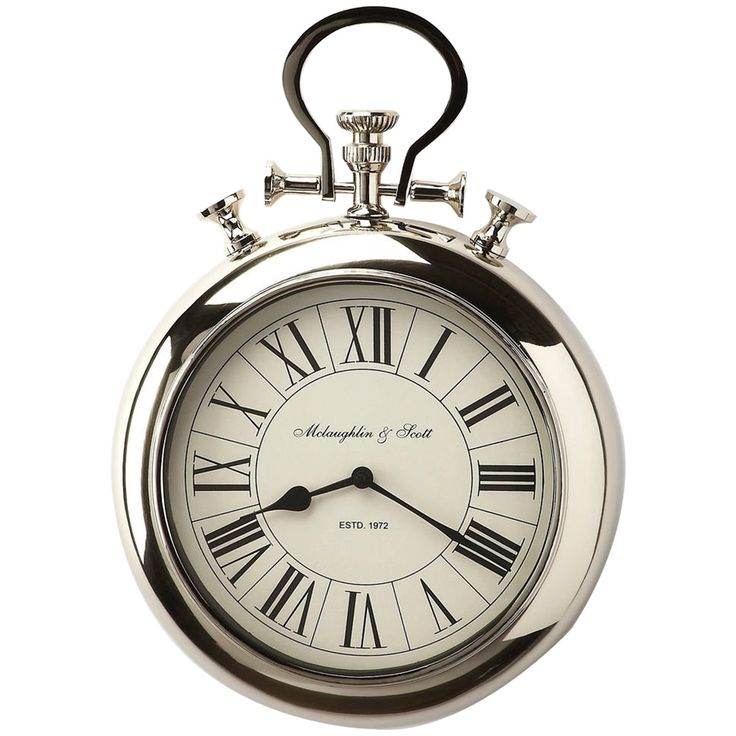 Butler Hors D'Oeuvres Guilford Nickel Finish Wall Clock