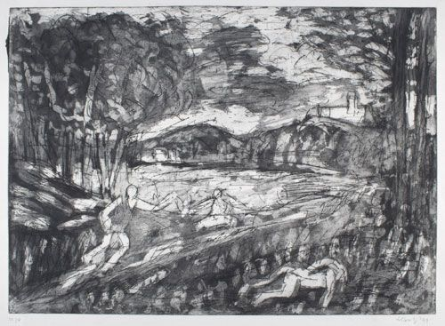 Leon Kossoff. <em>From Poussin: Landscape with a Man killed by a Snake. </em>Private Collection © Leon Kossoff