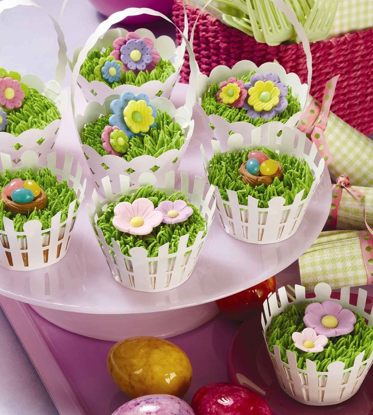 Easter Cupcakes - For all your Easter cake decorating supplies, please visit http://www.craftcompany.co.uk/occasions/easter.html