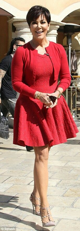 Kris Jenner Style Love her red dress!