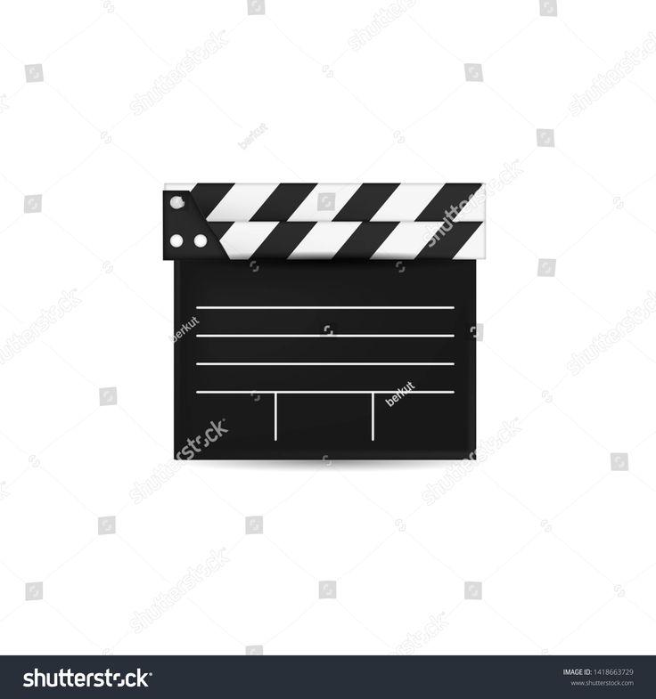 Creative Vector Illustration Of 3d Realistic Movie Clapper Board Art Design Cinema Slate Board Template Ad In 2020 Vector Illustration Graphics Inspiration Creative