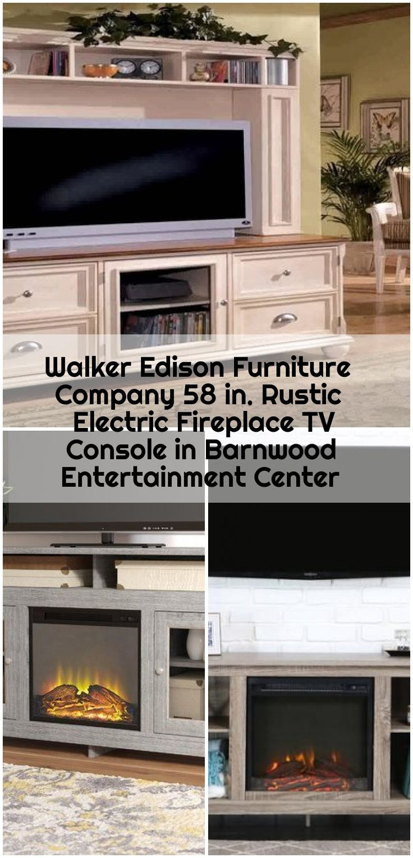 Walker Edison Furniture Company 58 in. Rustic Electric