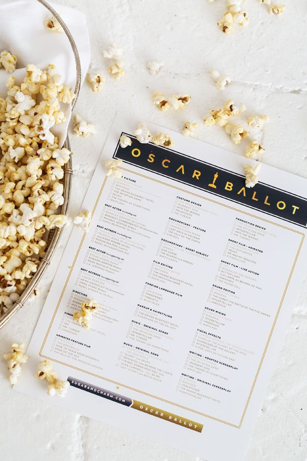 2015 Oscar Ballot Printable!