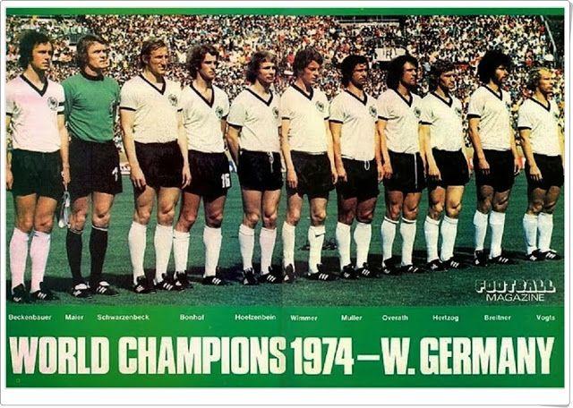 Alemania. 1974. Campeona del Campeonato Mundial de fútbol de 1974.