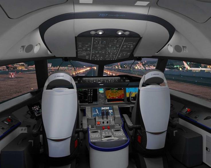 Boeing 787 Dreamliner Flight Deck