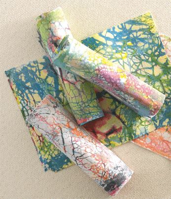 hand dyed batik fabric with chickpea flour spagnuolo
