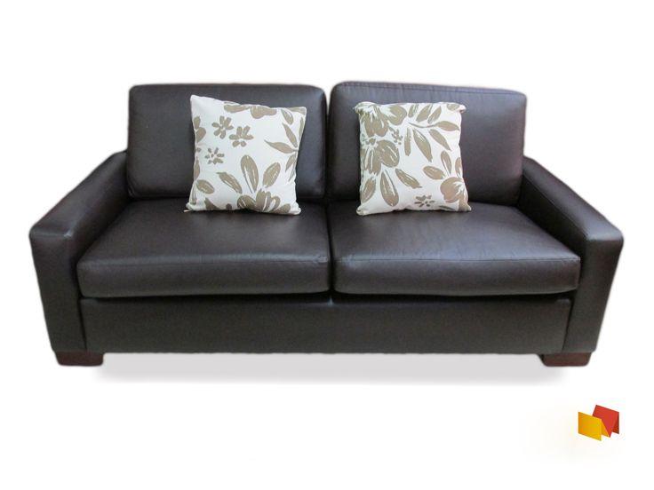 Sofá estilo eco-cuero de dos puestos