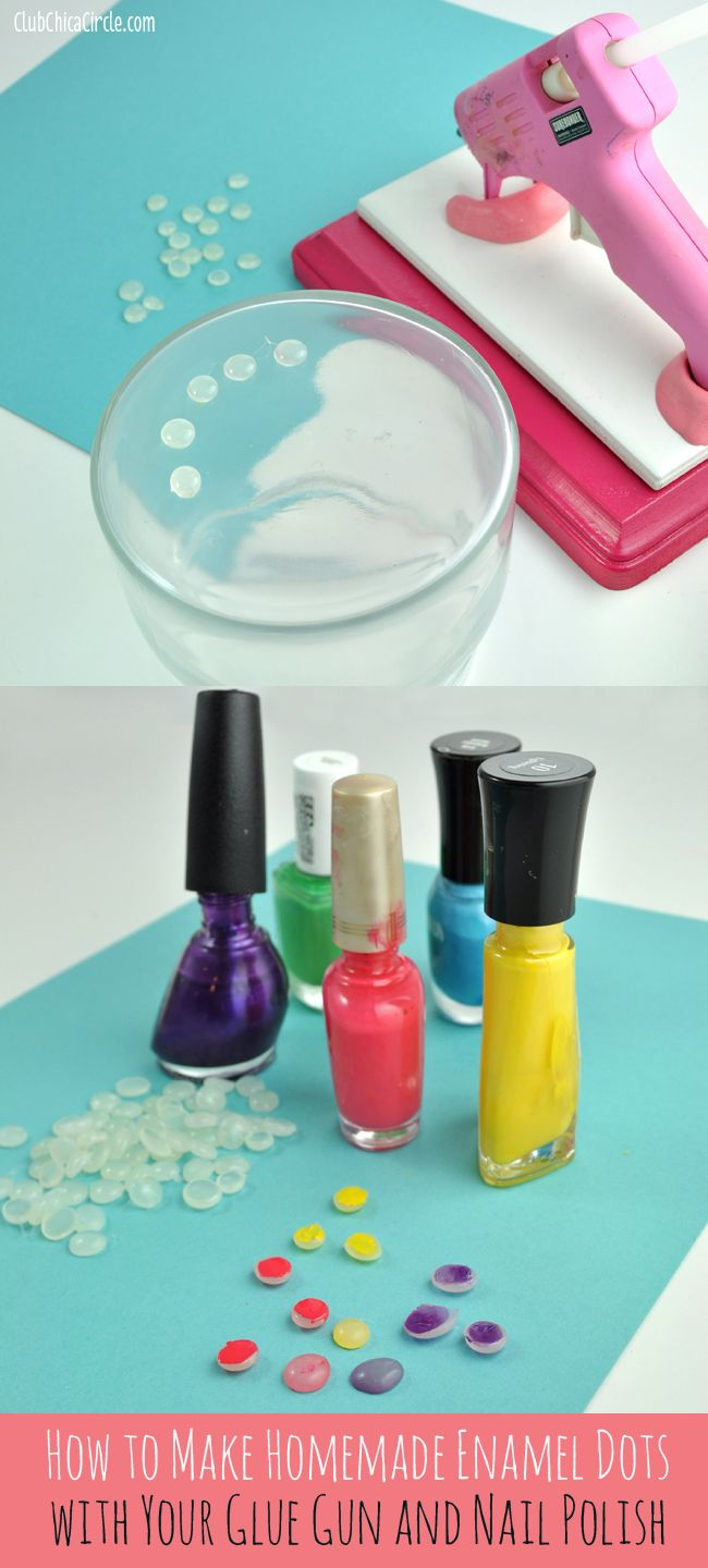 How To Make Glue Gun Enamel Dots With Your