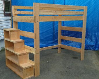 Super Heavy Duty Queen Size Loft Bed With 1000 Lbs by FastElegance