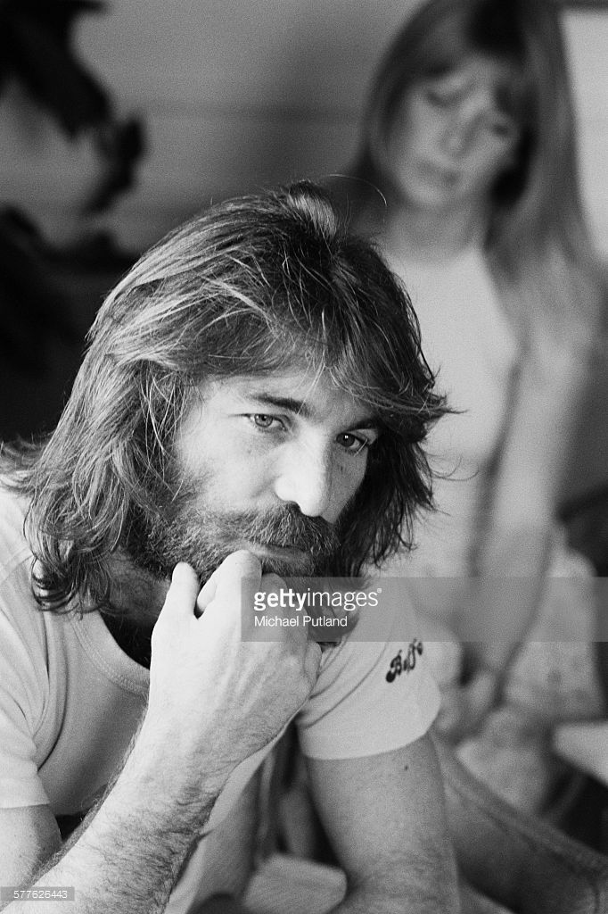 1977 American singer, songwriter and drummer with the Beach Boys, Dennis Wilson (1944 - 1983), New York, 6th September 1977. In the background is Wilson's wife, actress Karen Lamm (1952 - 2001).