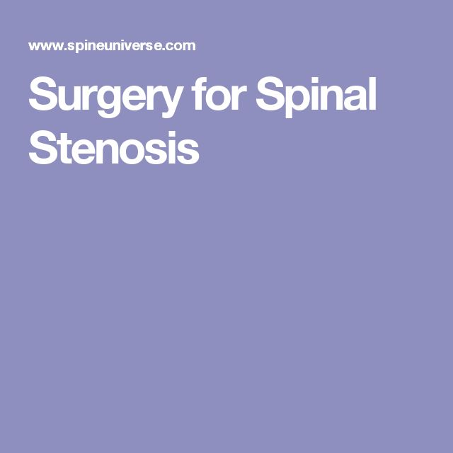 Surgery for Spinal Stenosis