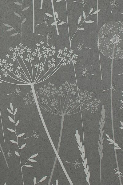 meadow charcoal wallpaper by hannah nunn