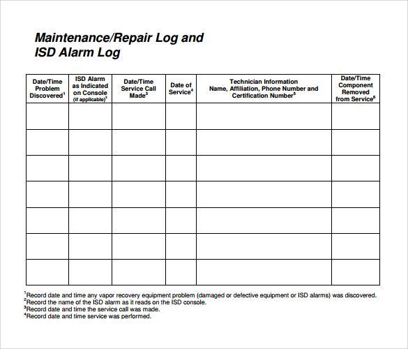Vehicle Repair Log Templates 10 Free Word Excel Pdf Sample