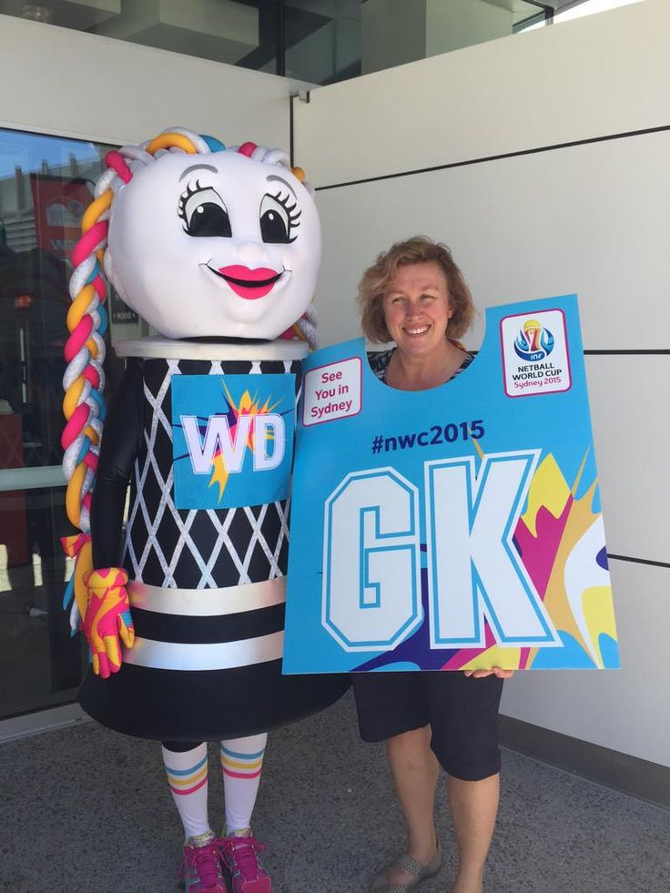 A few of the Netball World Cup 2015 pics. Looks like a clever take on the instagram photo ops seen at the CWC and AUSOpen but in GK form. Nice job.