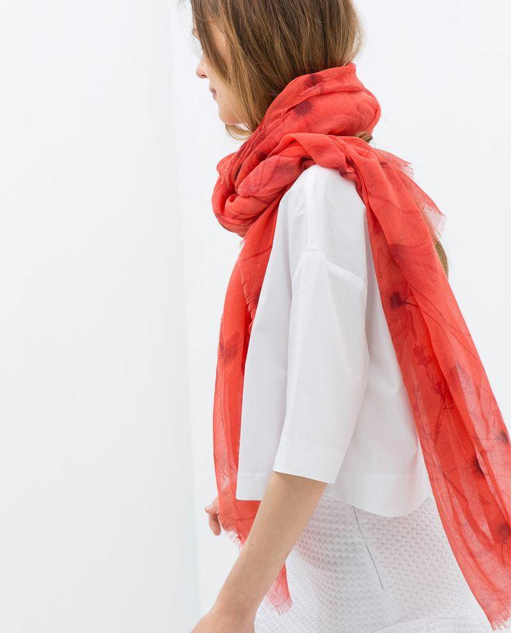 zara printed scarf i want