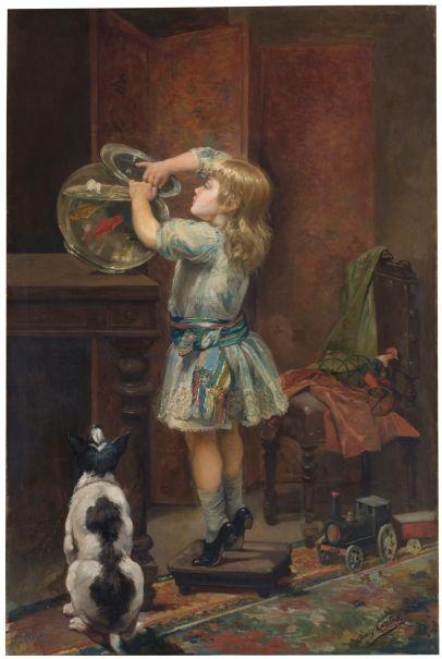 Posición probable del Globo antes del diluvio - Eduardo Díaz Carreño 1890. Óleo sobre lienzo - Museo Nacional del Prado