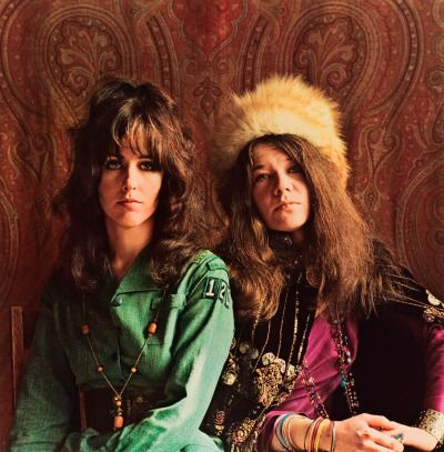 Grace Slick & Janis Joplin (Jim Marshall , 1967)