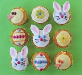 Easter Cupcake Selection - Cupcakes & Fairy Cakes -Recipes - Baking Mad