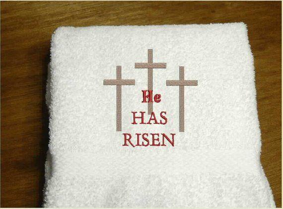 Religious Hand Towel He Is Risen