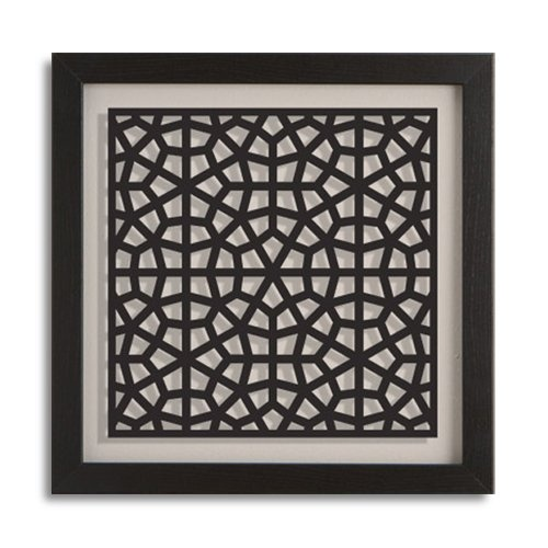 Find it at the Foundary - 17.5 in. Isfahan Wall Art - Black