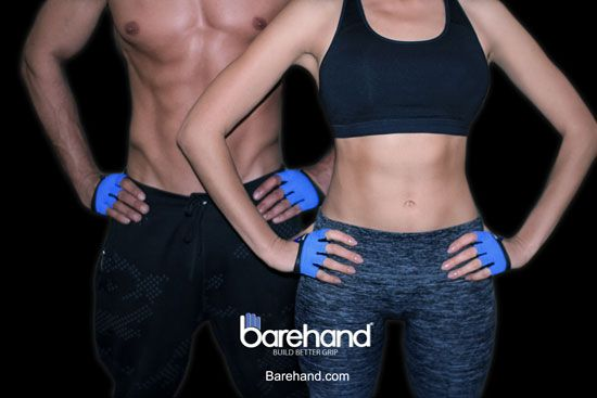 Barehand gloves - thinnest gloves for pullups, cross-training & lifting athletes. Fitness gloves that protect, full feel & save wrist. Minimalist approved.