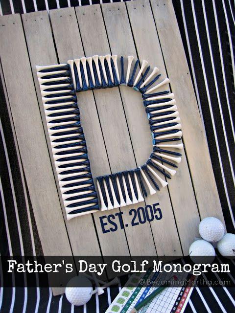 Father's Day Golf Monogram Pallet Art