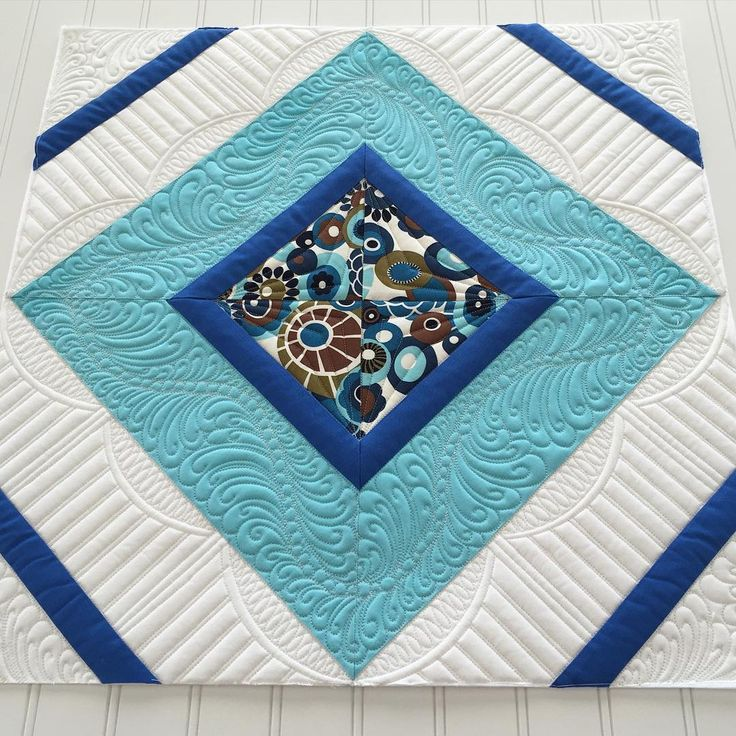 I had an extra block laying around...so I quilted it! #sewyoulikeit #freemotionquilting #longarmquilting #handiquilter #etsysuccess #etsyseller