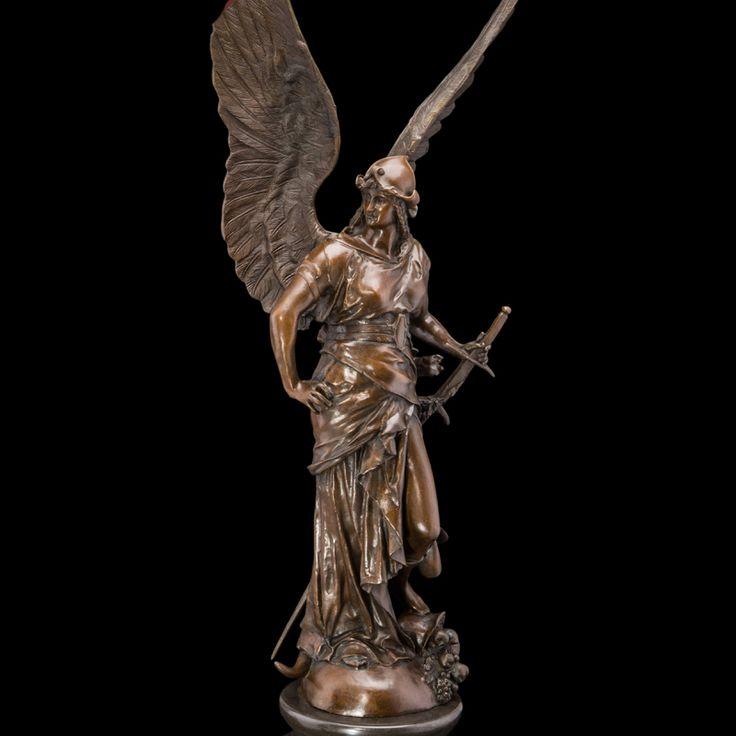 ATLIE BRONZES Bronze Winged Victory Lady Goddess Athena