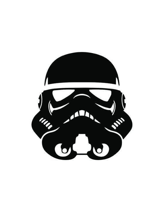 Stormtrooper Helmet Silhouette : stormtrooper, helmet, silhouette, Stormtrooper, Helmet, Vinyl, Decal,, Window, Stick, Stencil,, Silhouette