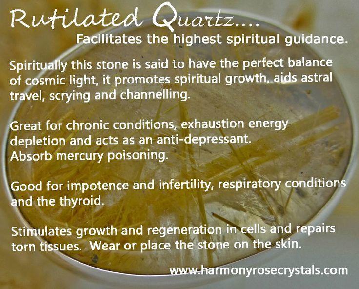 °Rutilated Quartz ~ Facilitates the highest spiritual guidance: