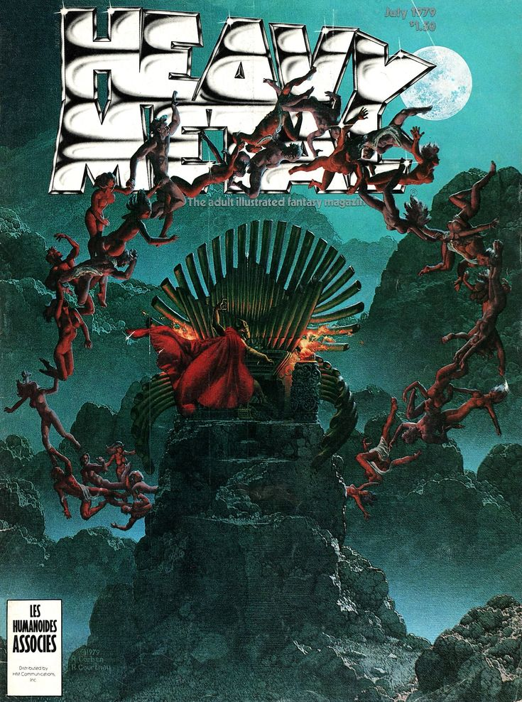 """137 best images about """"Heavy Metal"""" Magazine Cover Art on ..."""