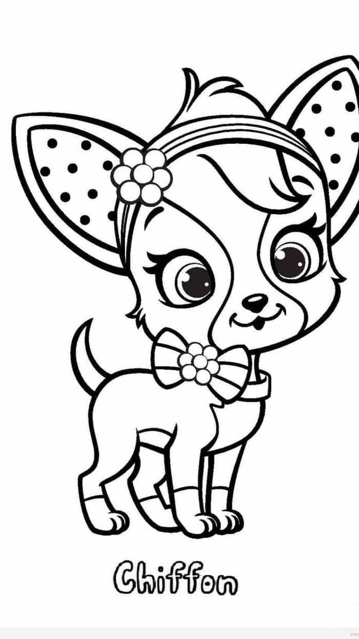 Chihuahua Dog Coloring Pages Dog Coloring Page