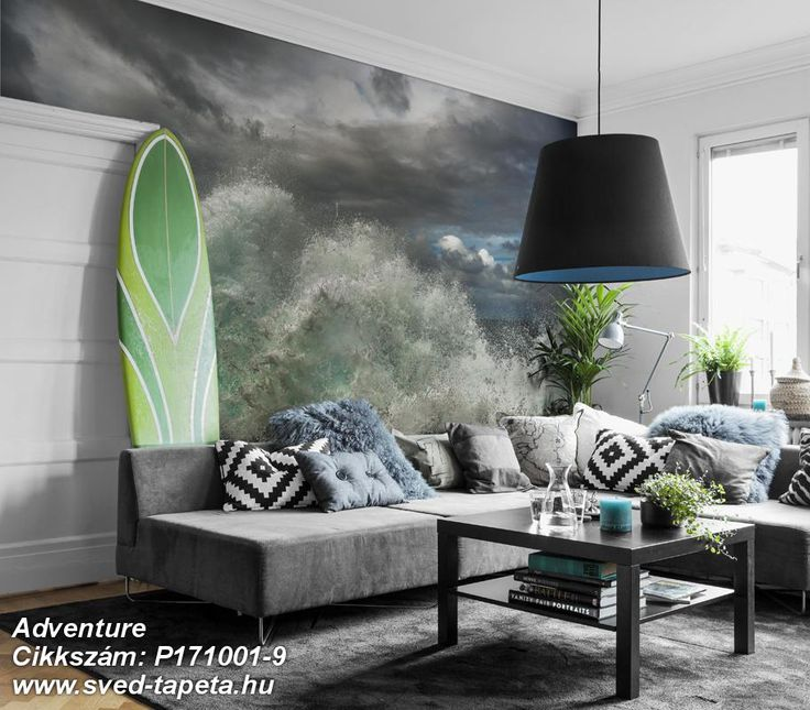 A perfect storm can be incredibly beautiful; enjoy the power of the sea with STORM wallpaper. ☞ #wall #decor #wallpaper #design #tapeta #foto #poster