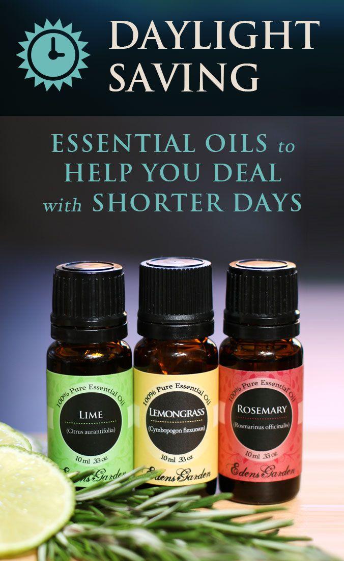 Daylight Saving: Essential Oils To Help With Shorter Days | Edens Garden
