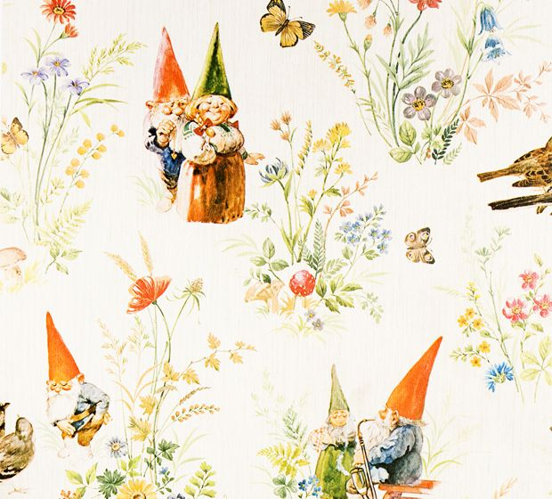 Vintage Wallpaper Gnomes like on the tv show Being Human