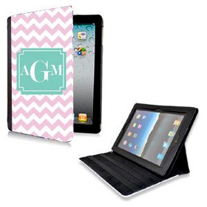 Personalized Monogrammed Chevron Leather iPad 2 by AModernStyle, $50.00