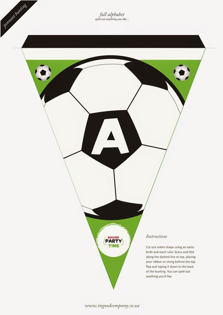 Soccer Letter Bunting - free printable | Birthday Party