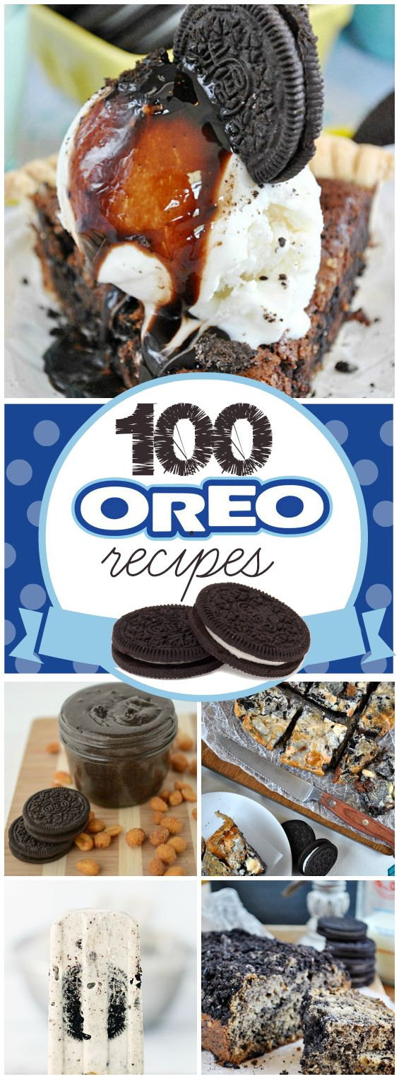 100 Oreo Dessert Recipes - Not that any of us have a an obsession with America's favorite cookie or anything...!!