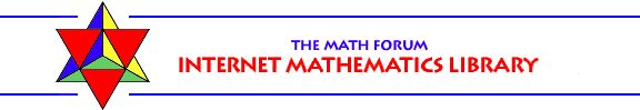 "Math Forum   Internet Mathematics Library: free, searchable ""Internet Mathematics Library"" that gives you quick and easy access to thousands of the best math education resources for every grade range and ability level on the web. clickschooling"