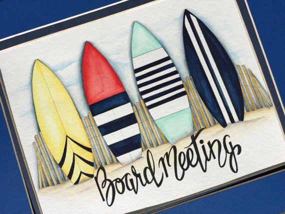 Surfbrett Wandkunst. Surfbrett Kinderzimmer von BMonteDesigns
