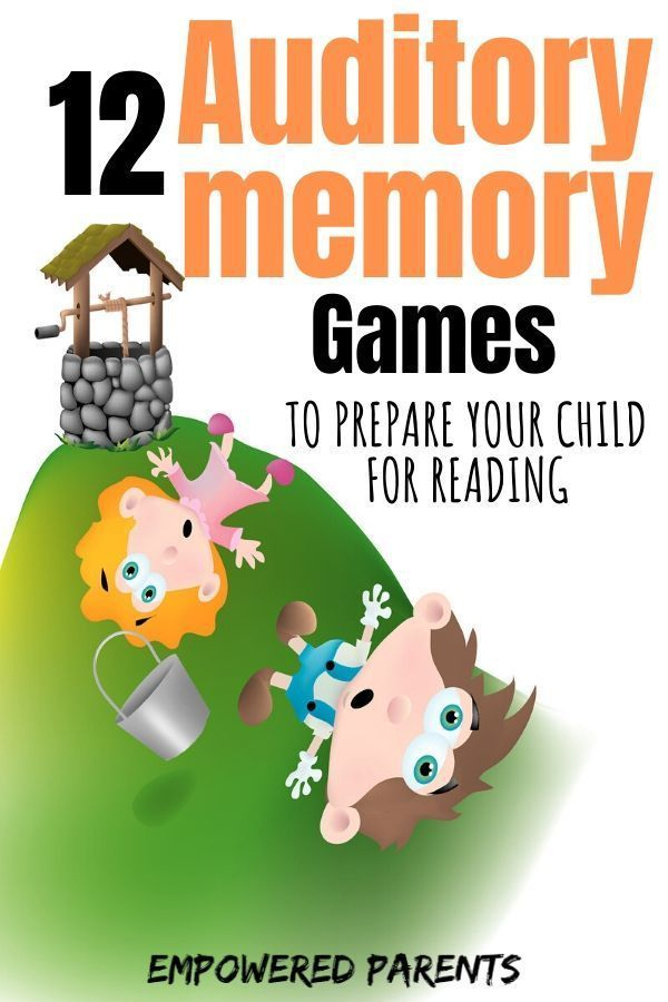 12 Auditory Memory Games To Prepare Your Child For Reading Learning To Read Games Pre Reading Activities Memory Activities