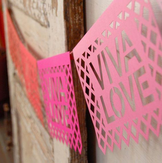 DIY: Banderines de papel al estilo mexicano.