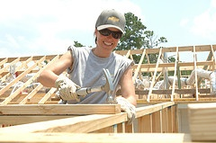 Volunteer on a Habitat for Humanity home