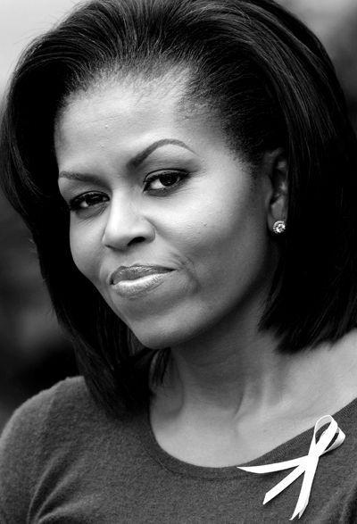 Face ✿ michelle obama ✿ woman ✿ black white
