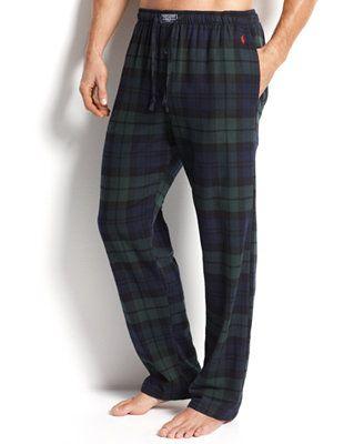 Polo Ralph Lauren Men's Sleepwear, Big and Tall Flannel Pajama Pants