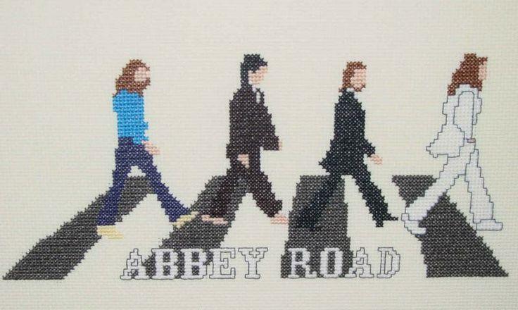 Borduren: Allerlei + Patroon ~The Beatles-Abbey Road~