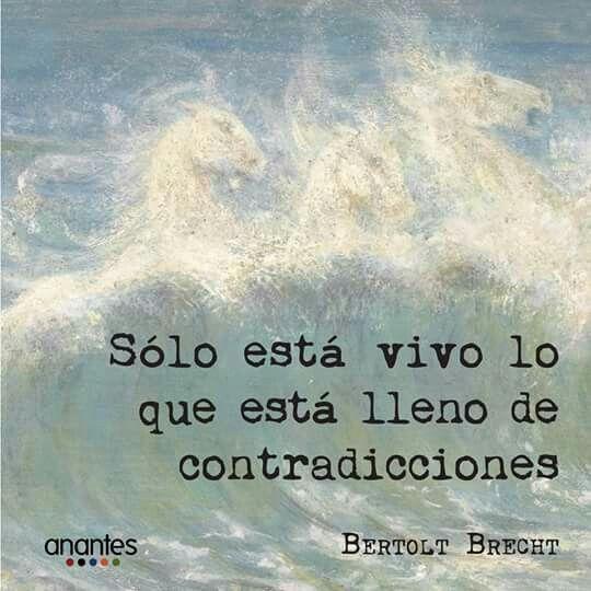 Bertolt Brecht invita, con esta frase compartida por Anantes Gestoria Cultural a celebrar la vida y todo lo vivo con sus incoherencias, imprecisiones y ambigüedades. Y asi, convoca a no juzgar, …