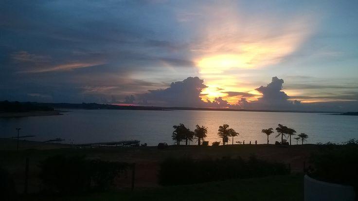 Sunset sun in Avaré (SP)