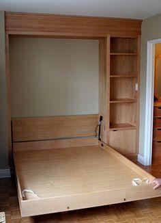 cama oculta en un closet